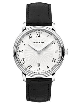 With contrasting dial matching the reliable performance, this replica Montblanc watch attracted a lot of people.