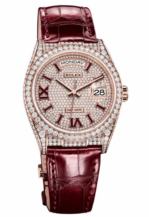 1:1 fake watches are showy for the burgundy color.